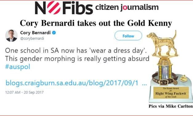 Cory Bernardi takes out the #GoldKenny – @Qldaah #auspol