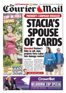 October 6, 2017 The Courier Mail - Stacia's Spouse Of Cards