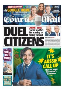 November 9, 2017 The Courier Mail - Duel Citizens
