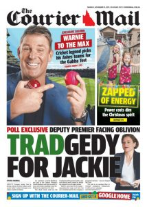 November 13, 2017 The Courier Mail - Tradgedy For Jackie