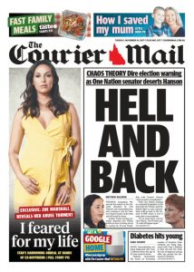 November 14, 2017 The Courier Mail - Hell And Back