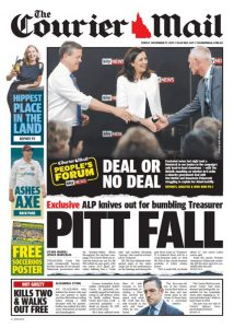 November 17, 2017 The Courier Mail - Pitt Fall