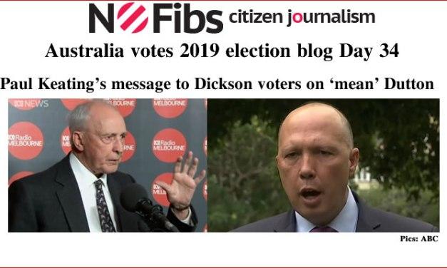#AusVotes Day 34 – Keating attacks 'mean' Dutton: @qldaah #qldpol