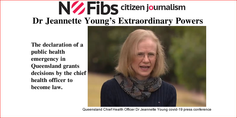 Queensland Chief Health Officer Dr Jeannette Young Granted Extraordinary Powers