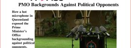 PMO Backgrounds Against Political Opponents