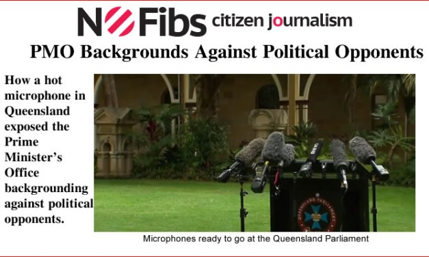 PMO Backgrounds Against Political Opponents – @Qldaah #qldpol #auspol