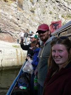 Aboard the Komani ferry