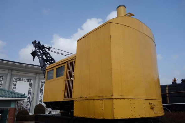 Yellow steam crane