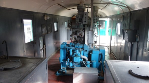 Inside the heater carriage