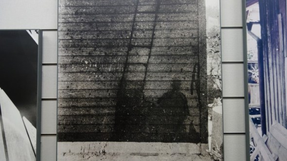 Shadow left by bombing victim