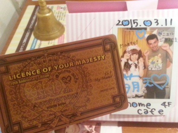 Maid Cafe photo and Liesence of my Majasty Card