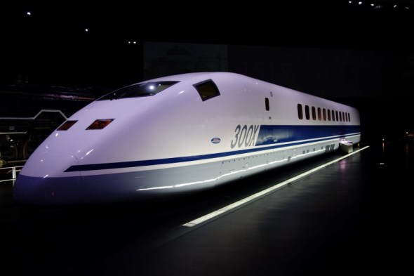 This Shinkansen 300X set a then world record speed of 443km/h in 1996