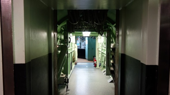 The corridor between the silo and the command post