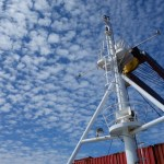 Crossing the Atlantic Ocean on a 38,000 tonne container ship