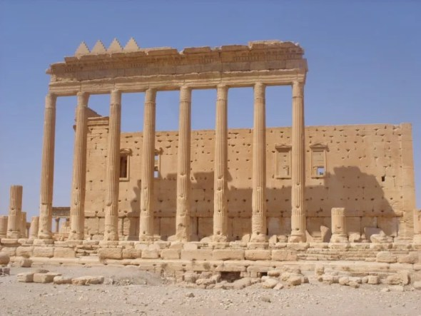 Temple of Bel ruins in Palmyra