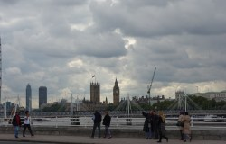 London skyline, Houses of Parliament and millennium wheel