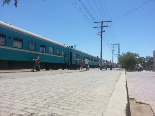 Train in platform at Aktau
