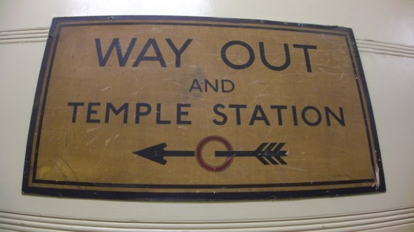 Way Out and Temple Station