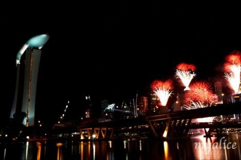 Fireworks with the city skyline!