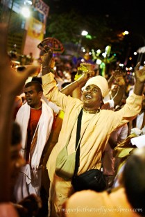 Most of the times, their supporters would break into songs and dance along the way
