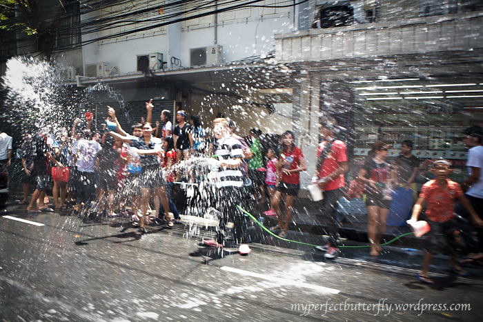 People on the streets just go nuts with the water