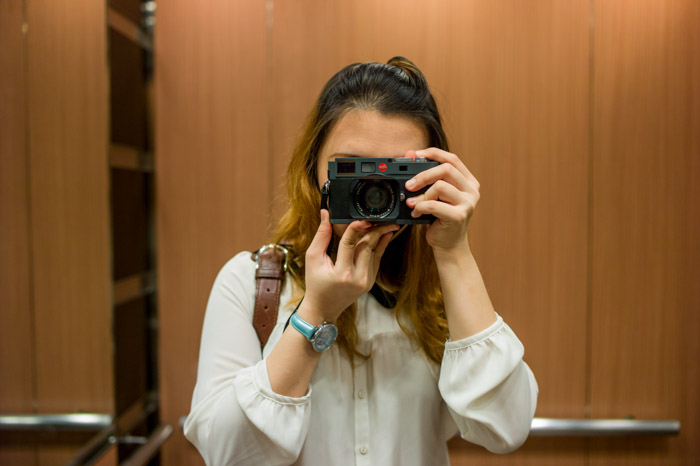 Jamie Chan and her Leica M-E