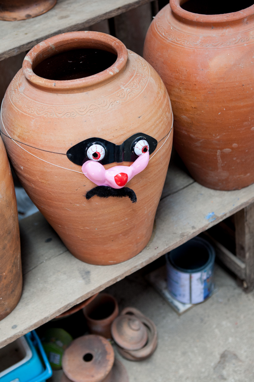 Koh Kret, pottery with a funny face on