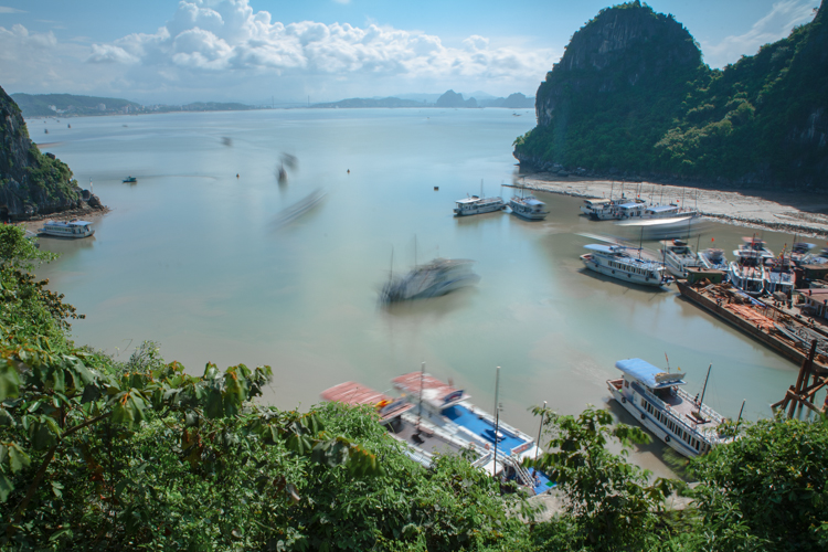 Ha Long Bay, Vietnam, Boats, Jamie Chan, No Foreign Lands, Travel Blogger