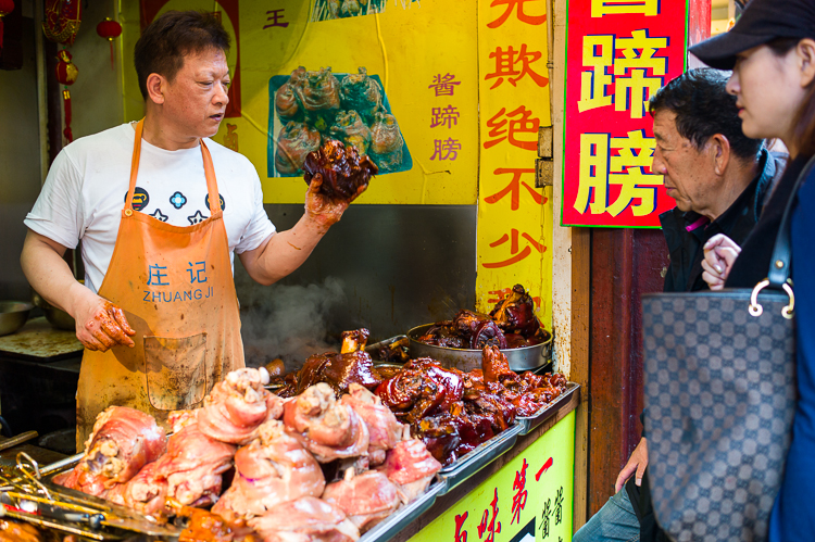 Qi Bao, Shanghai, Jamie Chan, No Foreign Lands, Travel Blog, food street, leica, meat
