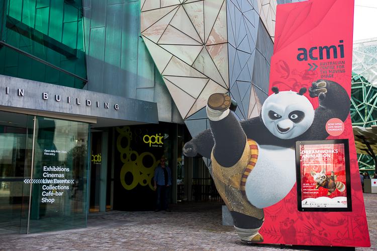 kung fu panda, acmi building, federation square, Melbourne, Melbourne, Jamie Chan, No Foreign Lands, Blog, Leica