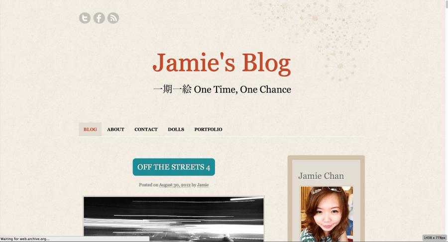 Jamie Chan, Blog, Visual Storyteller