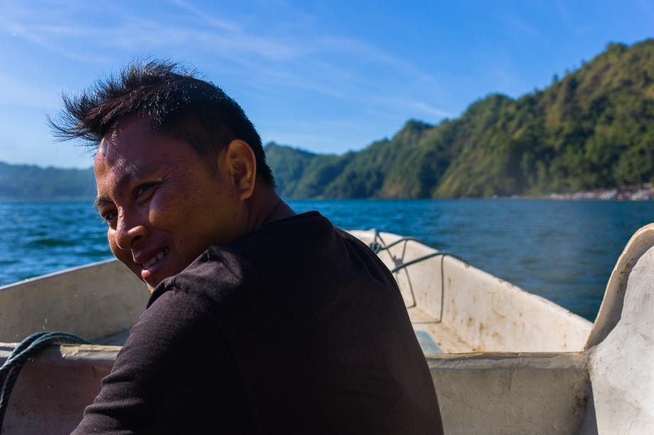 kuburan terunyan, Bali, Indonesia, No Foreign Lands, Jamie Chan, Leica, boat man, water, travel. smile