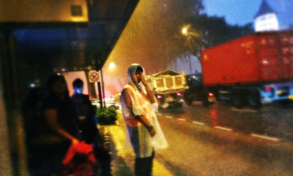 rain, raincoat, street photography, No Foreign Lands, Iphone, Hipstermatic, Jamie Chan, Travel