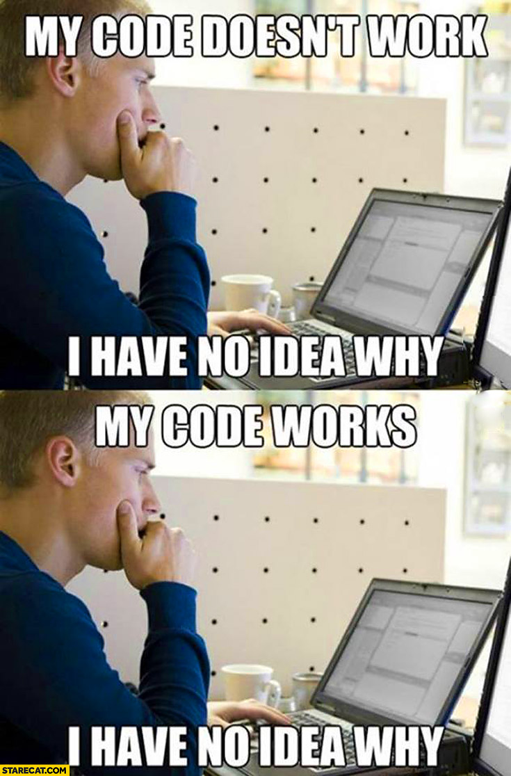 my code works, my code does not work, no idea why