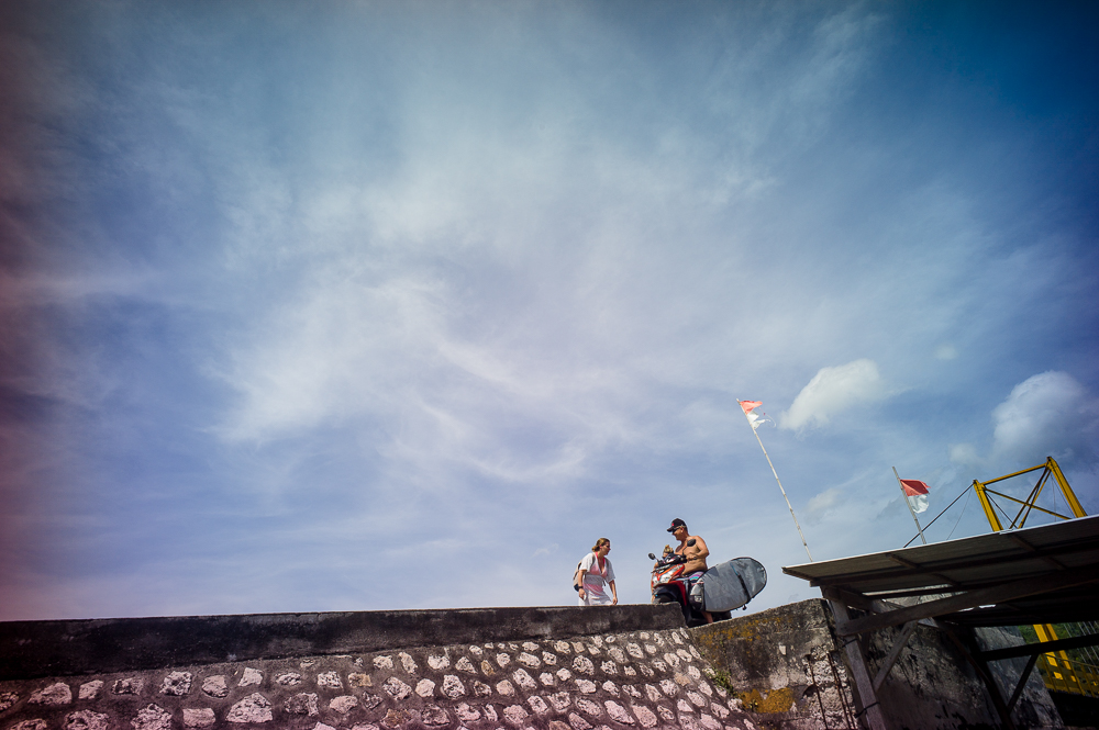 Lomography, New Russar+ Lens, Sandy Beach, Nusa Lembongan, Sea, Leica M-E, tourist, scooters