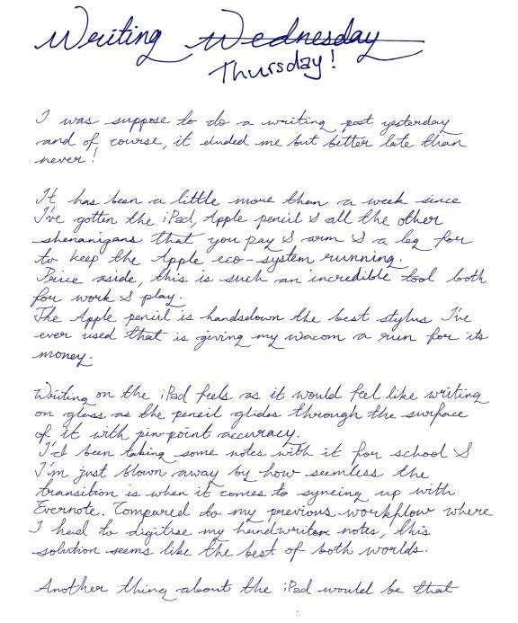 Jamie Chan, penultimate, iPad Pro, Apple pencil, writing, handwriting