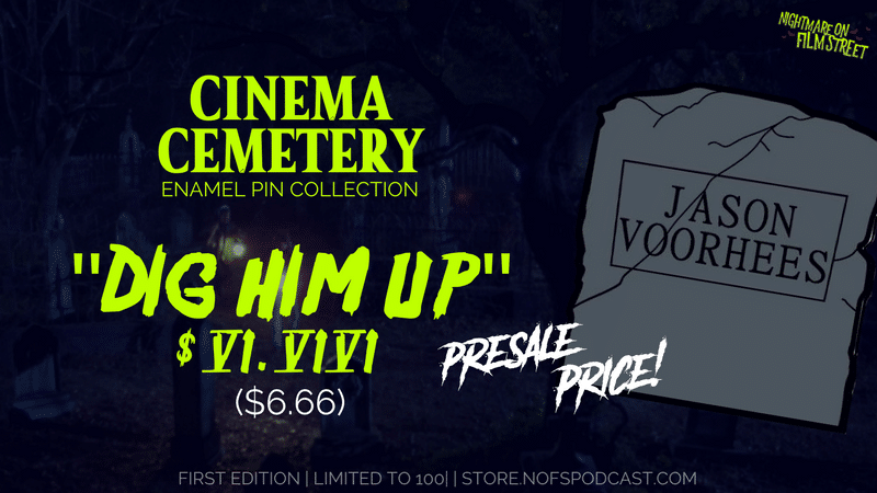 [Black Friday Presale] NIGHTMARE ON FILM STREET Launches 'Cinema Cemetery' Enamel Pin Collection!