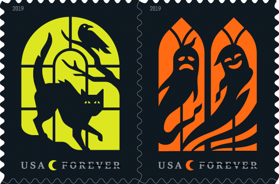 """Spooky Silhouettes"" Halloween Stamps to Haunt Your Mailbox this Autumn!"