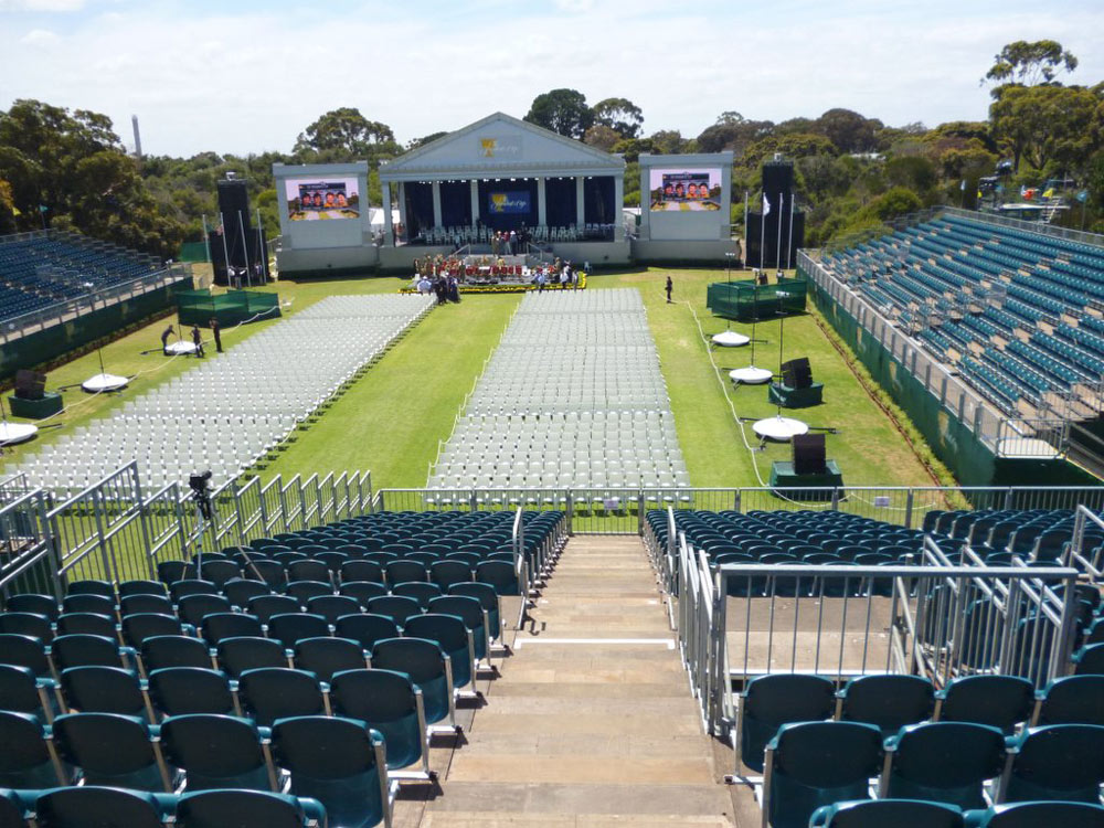 Temporary Grandstand Hire - No Fuss Seating Systems