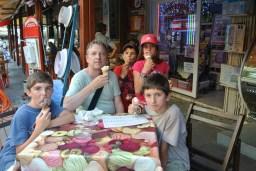 Eating Turkish ice cream...it had elasticity!