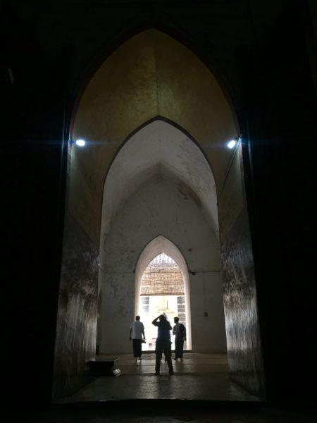 Interior symmetry, Ananda Temple, Bagan, Myanmar (Burma)