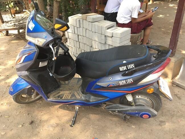 Larger size E-bike, Bagan, Myanmar (Burma)