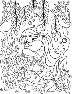Little Mermaid Disney Coloring Sheet I Want To Be Where The People Are