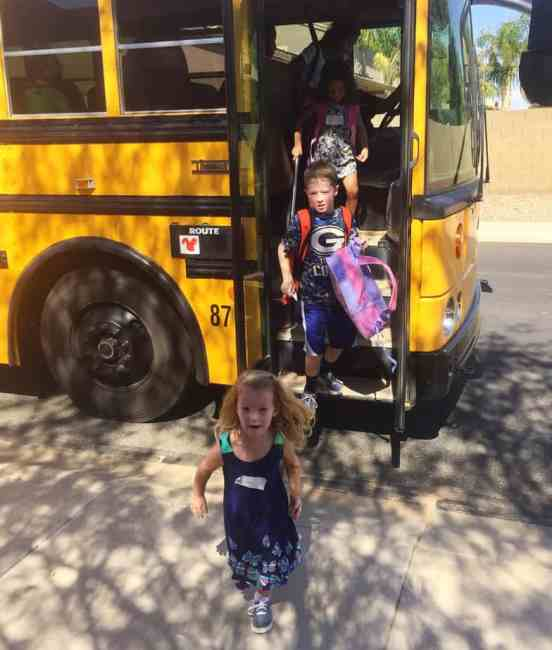 First Day School bus 2016