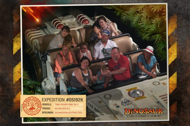 Disney World Dinosaur Photopass on ride picture