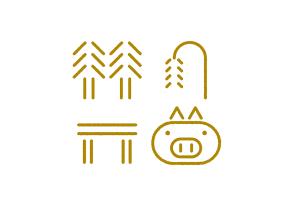 田んぼと森の収穫祭マーク