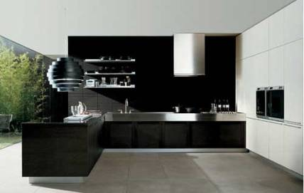 Black-Contemporary-Kitchen-Design
