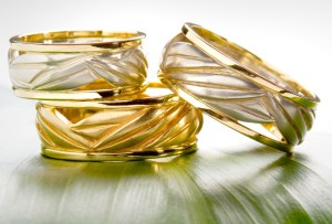 ti leaf rings - Hawaiian Wedding Rings