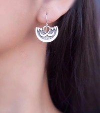"""Kamehameha 'Ahu'ula earrings by Sonny Ching and Paradisus, Sterling Silver 1.5""""W x 1""""H $100"""
