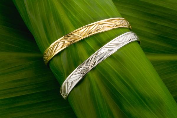Ti Leaf Bracelets